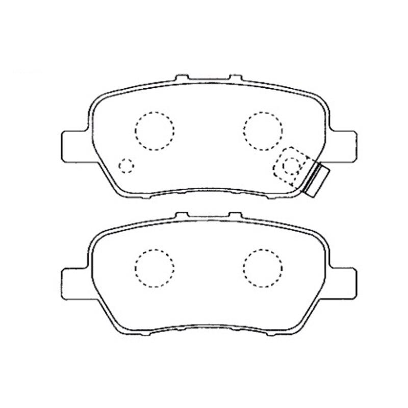 AKEBONO plaquettes frein disque arrière adapté pour Honda Odyssey (RB), Elysion, stream (08-), Crossroad AN-698WK