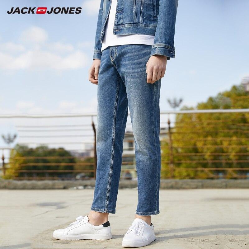 JackJones Men's Slim Fit Ankle-Length Stretch Cotton Crop Style Jeans Denim Pants| 220132572
