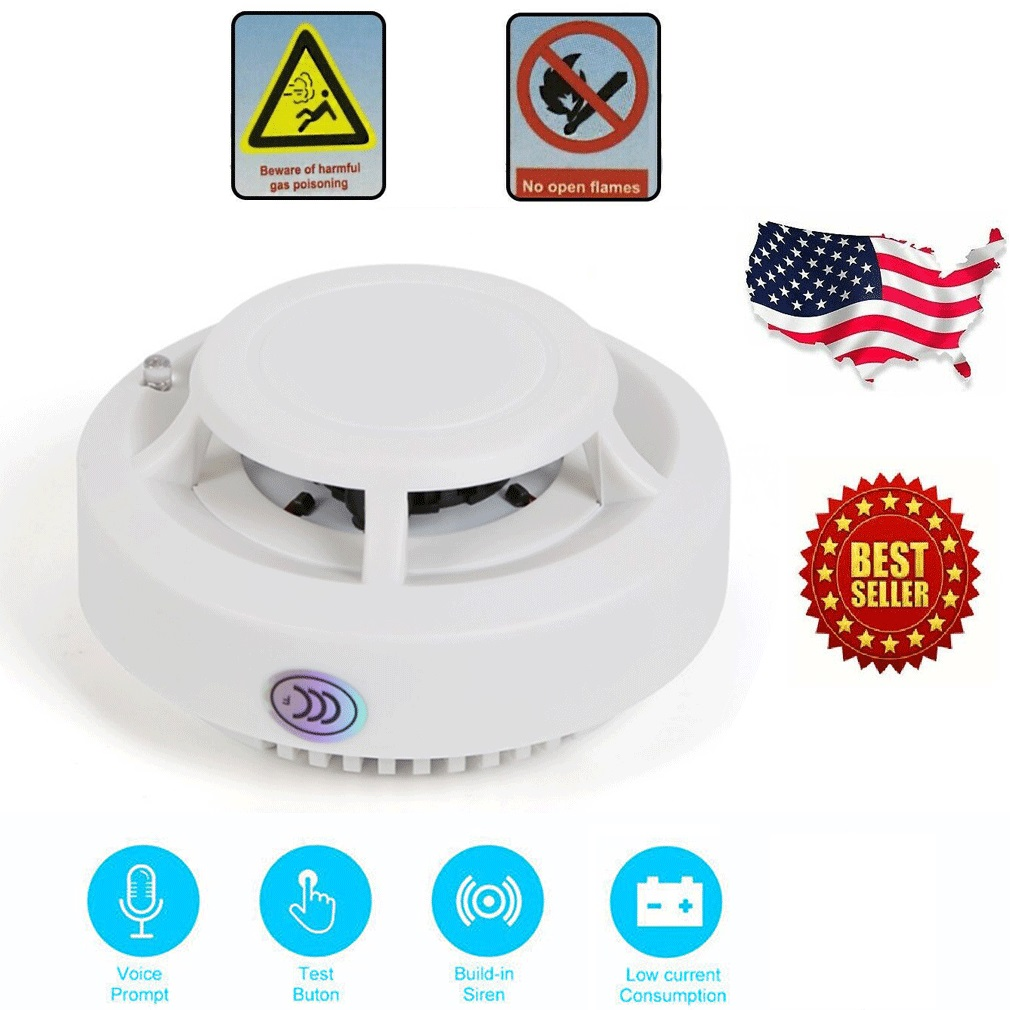 Smoke Alarm CO Carbon Monoxide Detector Poisoning Gas Warning Sensor Monitor Battery Operated Smoke Alarm Fire Safety Sensor