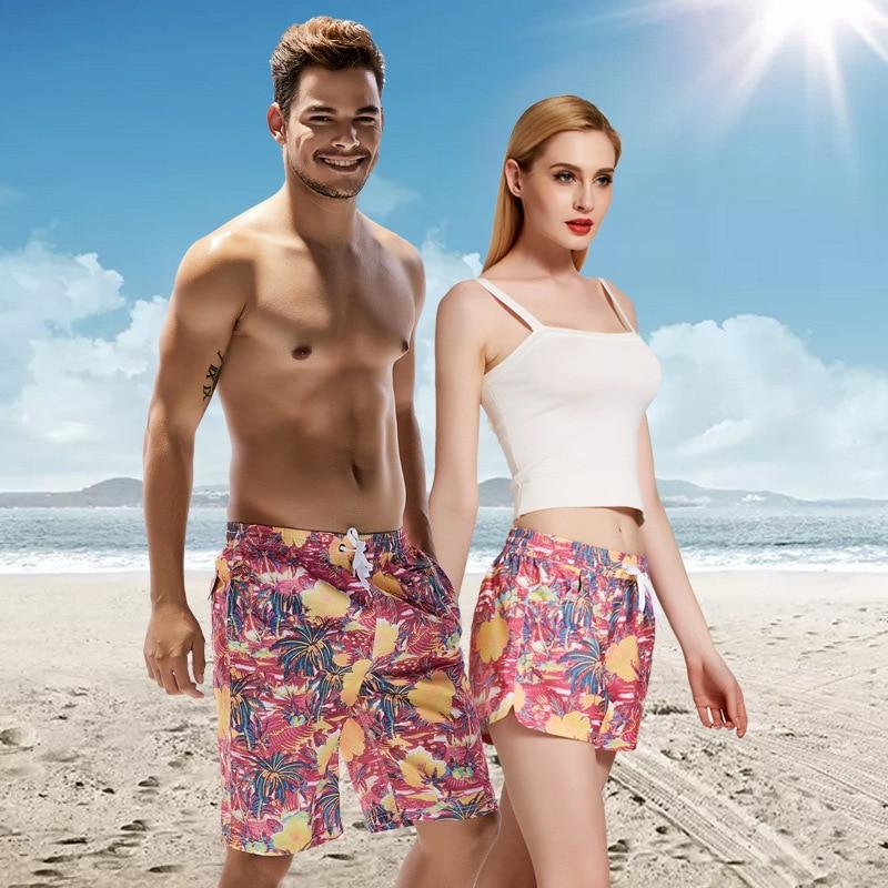 COUPLE'S Beach Shorts Men Short Shorts SEOBEAN Loose Casual Sports Large Size Quick Drying Pants WOMEN'S Shorts