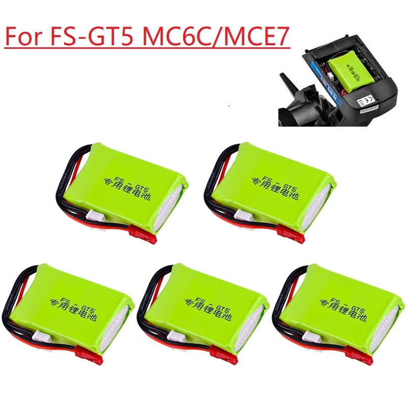Литий-ионный аккумулятор для FS GT5 2,4G 6CH передатчик FPV гоночный Дрон Радиоуправляемый квадрокоптер RC игрушечные детали 7,4 В 1500 мАч литий-полим...