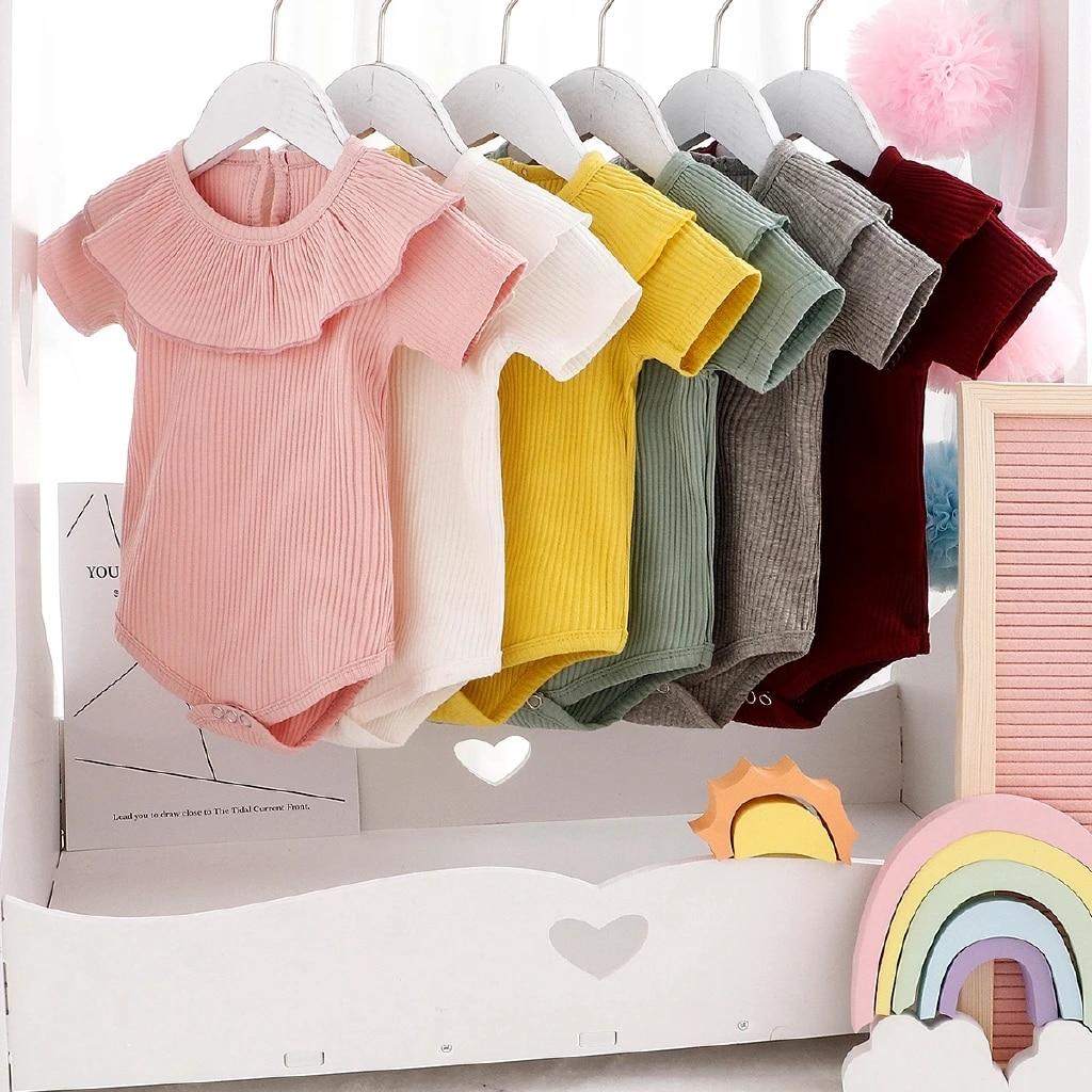 Toddler Baby Girl Boy Kids Cotton Clothes Romper Jumpsuit Bodysuit Summer Tops