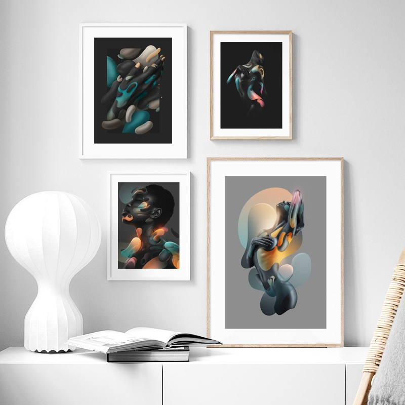 Modern Nude Abstract The Body Art Wall Art Canvas Painting Nordic Canvas Posters And Prints Wall Pictures For Living Room Decor Painting Calligraphy Aliexpress