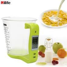 HILIFE Elektronische Messbecher Küche Waagen Digitale Becher Host Wiegen Temperatur Messung Tassen Mit LCD Display