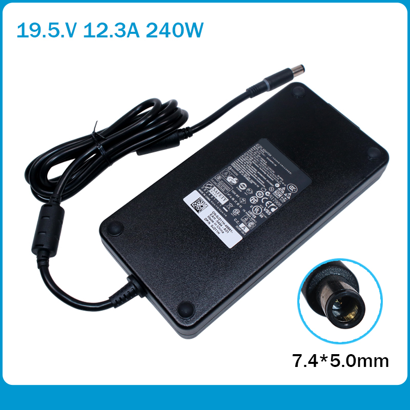 Ultra-thin 240W 19.5V 12.3A PA-9E Laptop Ac Power Adapter Charger For Dell Alienware M17X R2 R3 R4 R5 17D-1848 M18X R3 GA240PE1-