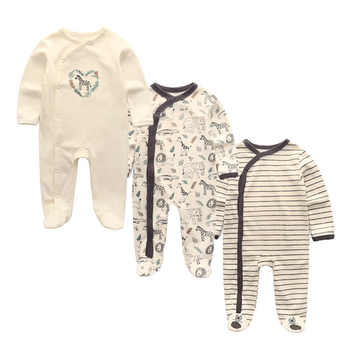 3 PCS/lot newbron winter Baby Rompers Long Sleeve set cotton baby junmpsuit girls ropa bebe baby boy girl clothes - DISCOUNT ITEM  45 OFF Mother & Kids