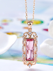 YVV66         925 Sterling Silver Wedding Pearl Zircon Necklace Earrings crystal lovers Bracelet