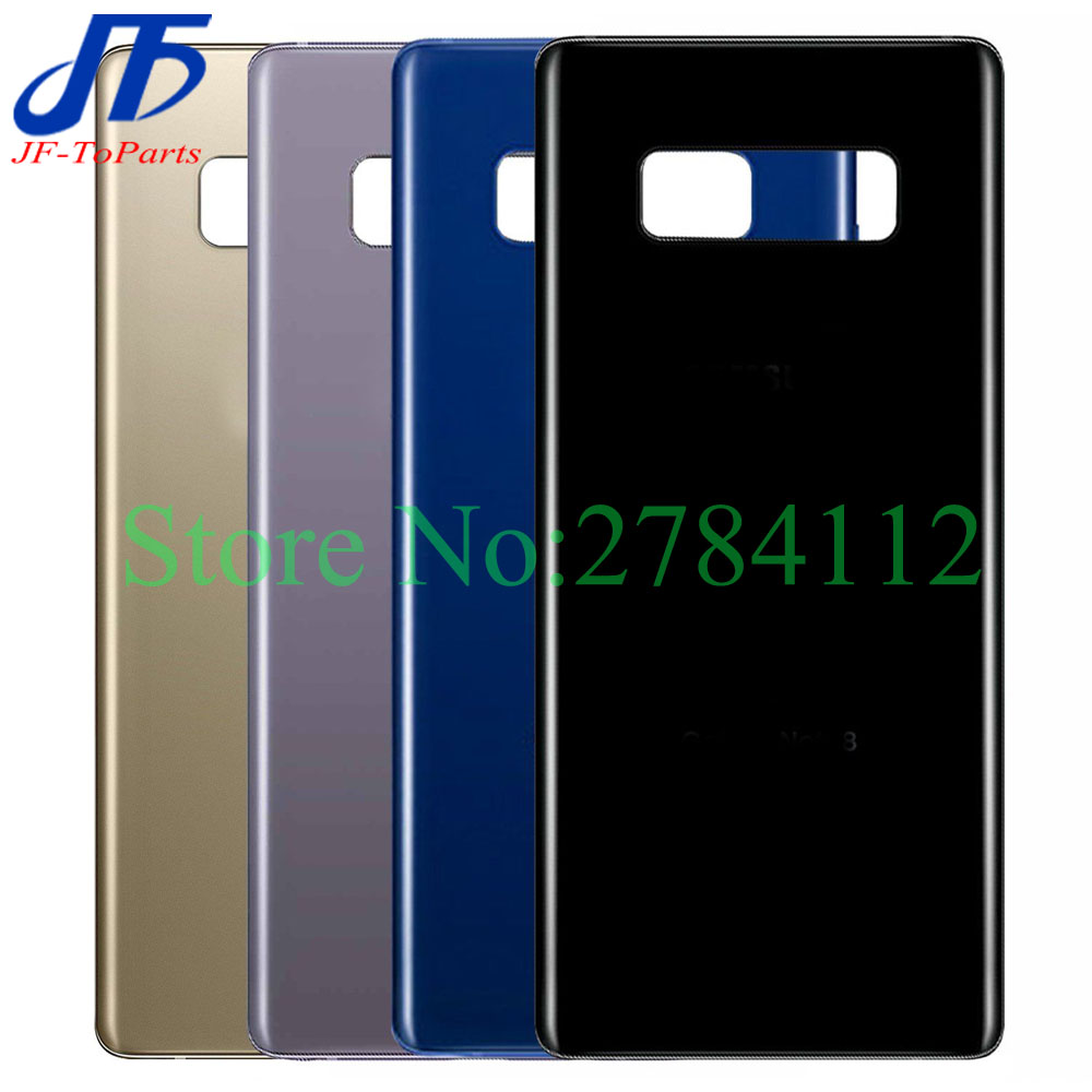 10Pcs 6.3 Back Glass Replacement For Samsung Galaxy Note8 Note 8  N950 Battery Cover Rear Door Housing Case 6 Colour   StickerMobile  Phone Housings