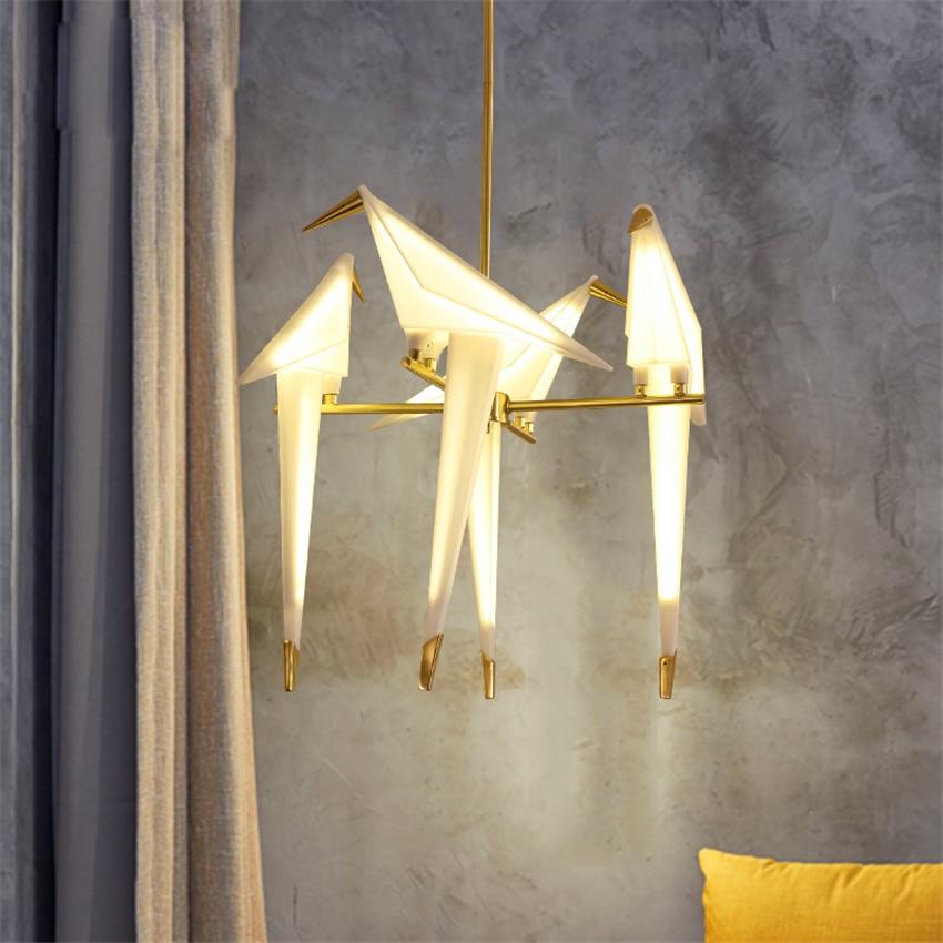 Nordic Vogel Anhänger Lichter Acryl Loft Wohnzimmer Lesen Anhänger Lampe Moderne Esszimmer glanz Schlafzimmer Küche Hängen Lampen