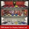 Дисплей шкаф яркая сцена навес светодиодный светильник JDM Nissan Nismo для масштаба 1:64 модель для автомобиля диорама гараж LBWK Lambo