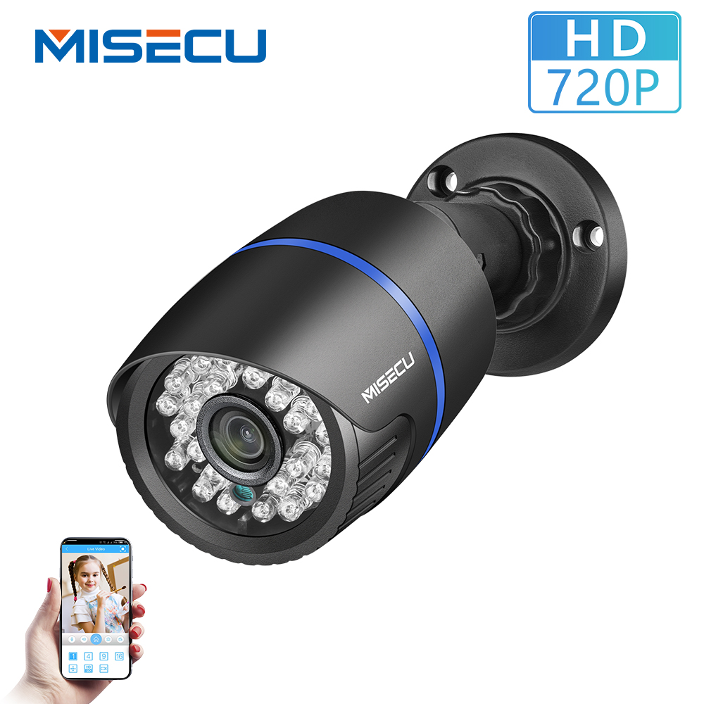 MISECU 2.8mm Wide IP Camera 720P Email Alert XMEye ONVIF P2P Motion Detection RTSP DC12V Surveillance Camera Outdoor Waterproof