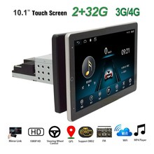 1Din Einstellbare Drehbarer Bildschirm 2G + 32G Auto Multimedia-Player 10,1 zoll Android 8,1 BT GPS WiFi 3G/4G Auto-Radio-Player(China)