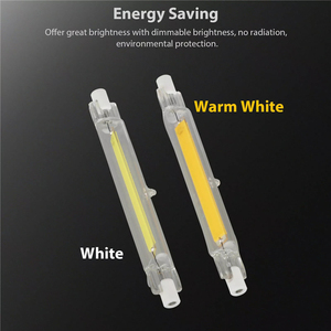 R7s Cob LED Glass Tube 118mm J118 78mm J78 COB Light Bulb 15W 30W 40W AC 220V Dimmable For Home Lighting Replace Halogen Lamp(China)