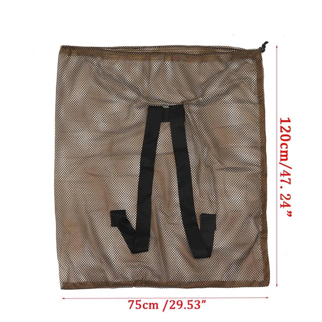 120cm x 75cm Duck Goose Turkey Decoy Bag Mesh With Shoulder Straps Bird Hunting Net Mesh for Hunting Backpack 6