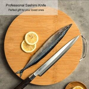 Image 4 - Японский нож сашими для суши, 27 см, кухонный нож из немецкой нержавеющей стали, японский лосось, сырая рыба, филе, янагиба, кухонный нож 10,2 г