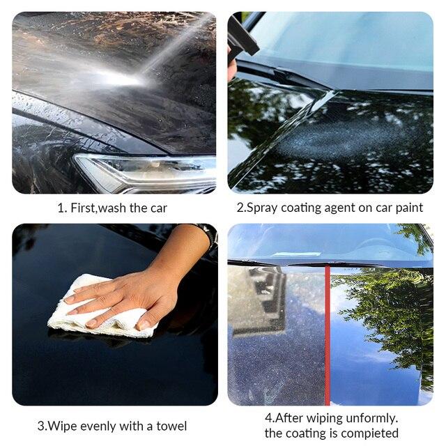120ml Ceramic Coating Spray Car Paint Care Car Scratch Removal Spray Nano Repair Spray Nano Hydrophobic Glass Coating Polish Wax 2