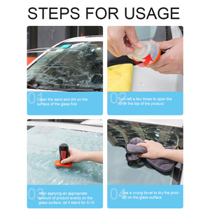 Image 4 - 100 ミリリットルポータブル疎水性コーティング防水アクセサリー車の窓ガラススタイリング抗雨エージェントバックミラークリーニング