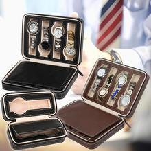 2/4/8 Jewelry Box Jewelry Organizer Grid Faux Leather Zipper Watch Jewelry Storage Box Organizer Display Case Jewelry Display