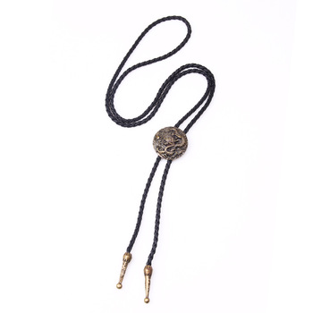 Fashion Necktie Bronzed Chinese Dragon Ethnic Style Men Bolo Tie Leather Chain Sweater Shirts Lovers Neckla Jewelry Bowtie