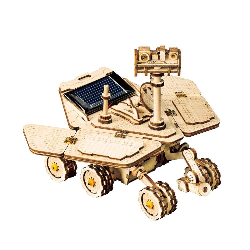 Image 4 - Robotime ROKR DIY Solar Energy Toys Model Building Kit Space Hunting Assembly Toys For Children KidsModel Building Kits   -