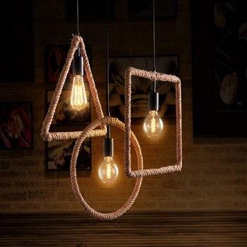Vintage Industrieel Touwlamp 2
