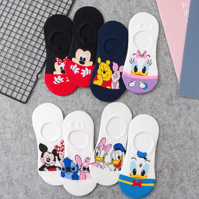 Funny Cute Anime Women Socks Spring Summer Breathable Comfortable Kawaii Short Ankle Sock Cartoon Women Duck Mouse Socks Fashion