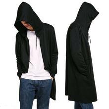 Goocheer New Men Hooded Hoodies Sweater Long Cardigan Cloak Hipster Hip Hop Cape Coat Top