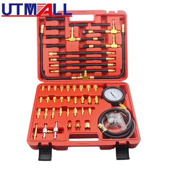 цена на TU-443 Deluxe Manometer Fuel Injection Pressure Tester Gauge Kit system 0-140 psi
