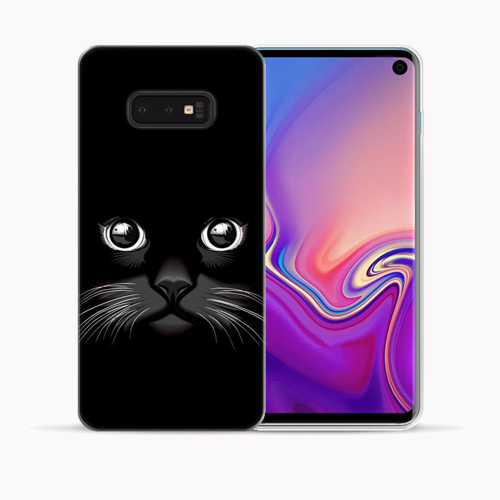 Cartoon Cute Funny Cat Dog Case For Samsung Galaxy S8 S9 S10 S20 Plus Ultra 5G S10E S7 Edge Note 10 Pro 9 8 Silicone Cover