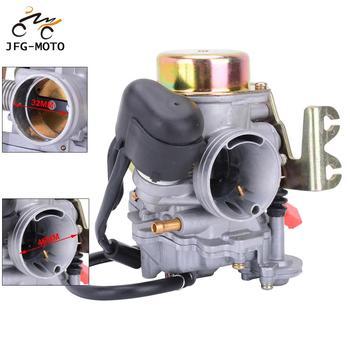 Carburador de aluminio para motocicleta CVK32 para Scooters Keihin ATV con motor GY6 150-250CC Quad Dirt Bike Motocross