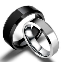 Anel de titânio preto para homens, 3 modelos de cores dourados anti-alergia suave simples de casal anéis bigoterie para homem ou presente da mulher