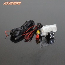 For Nissan Almera 2013 TEANA TIIDA Sylphy Rear view camera With Parking Line Waterproof Night Vision 4LED CCD back up camera