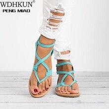 New Gladiator Sandals Women Flat Flip Flops Woman Summer Ank