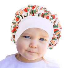 Детский хлопковый бант шапочка для ночного сна косметических