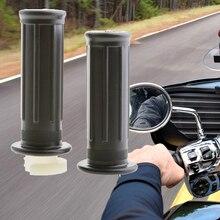 1 пара, мотоциклетные ручки, черные резиновые пластиковые ручки для Yamaha PW50 PW 50 PEEWEE и т. Д., аксессуары для мотоциклов