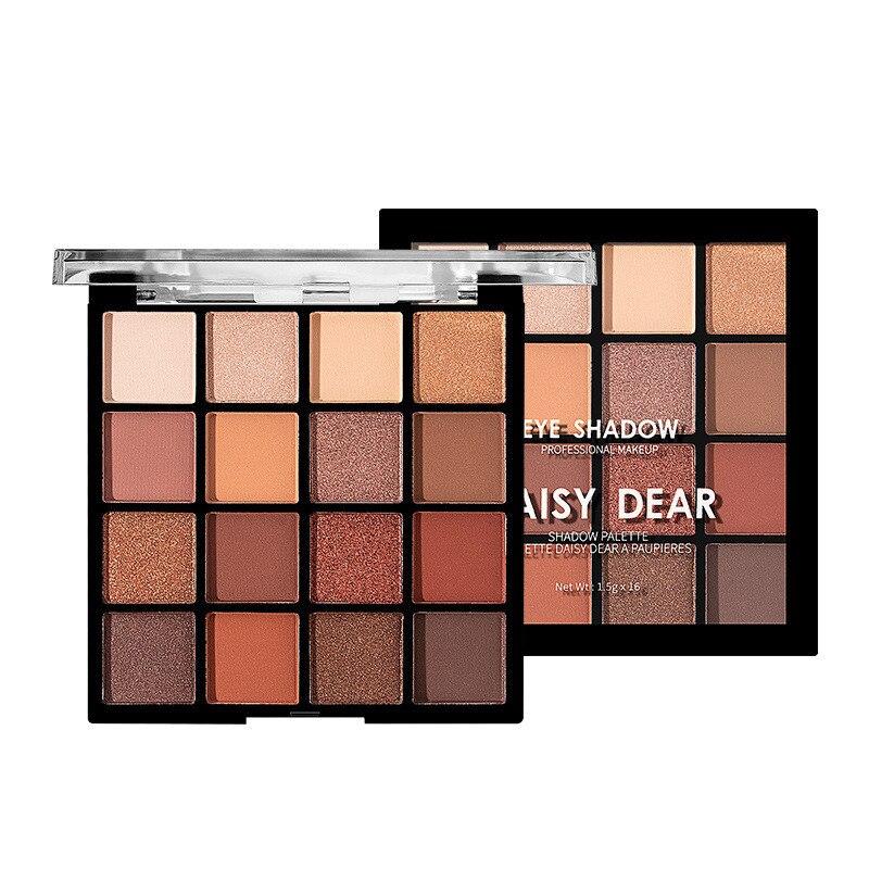 16 Color Matte Eyeshadow Palette Glitter Eye Shadow Waterproof Long Lasting Make Up Pallet Shimmer Fashion Women Beauty Eyes