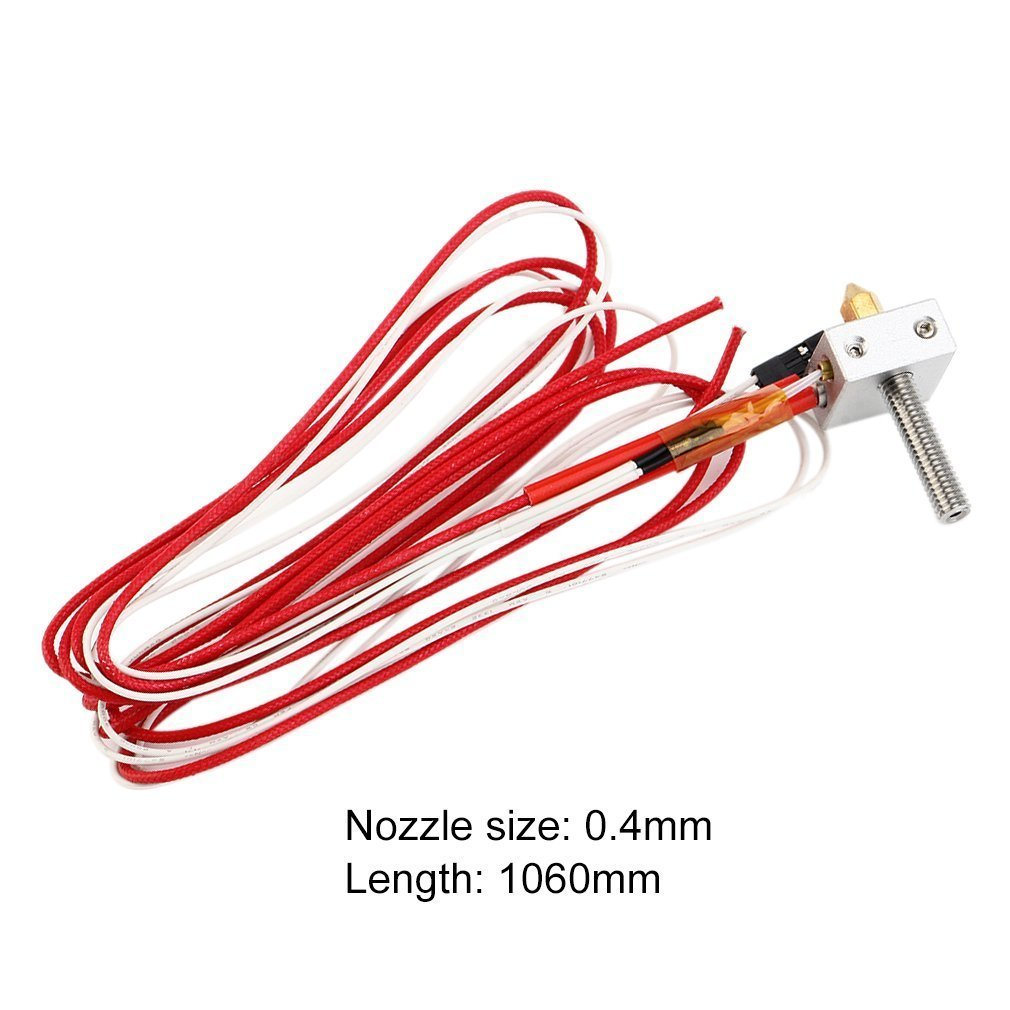 DIY Hotend Kit Nozzle MK8 Extruder Throat Heater 1.75mm/0.4mm Extruder Heater Block For Anet A2 A8 3D Printer Parts Universal