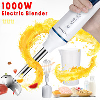 Electric Hand Blenders 3 IN 1 1000W Mixture Egg Blenders Home Kitchen Mixer Baby Food Grinder Stick Fruit Juicer Vegetable