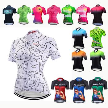 Koszulka kolarska kobiety koszulki rowerowe Maillot Ropa Ciclismo lato z krótkim rękawem MTB Road Pro kolarstwo odzież rowerowa topy Maillot tanie i dobre opinie JPOJPO CN (pochodzenie) Stretch Spandex Poliester WOMEN bicycle jerseys summer Wiosna AUTUMN Zamek na całej długości