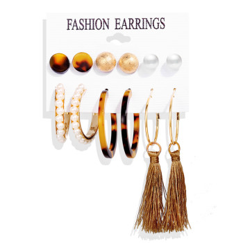 Women Bohemian Earrings Set Big Earrings Jewelry Women Jewelry Metal Color: Earrings Set 3