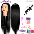 Kopf Puppen Für Friseure 65cm Haar Synthetische Mannequin Kopf Frisuren Weibliche Mannequin Friseur Styling Ausbildung Kopf