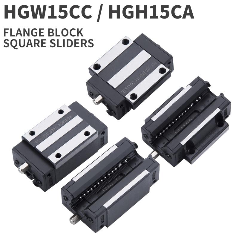 Flange Type Linear Guide Rail Sliding Block HGW15CC for HR15 Linear Rail