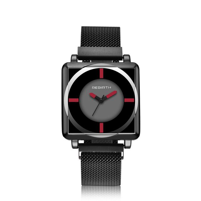Men's Water-Resistant Steel Square Watch
