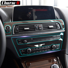 Transparent TPU Anti Scratch  Protective film Interior Trim Gear Panel for BMW 6 Series 4-Door Coupe Gran Coupe F06 Accessories электромобили hebei bmw 2 series coupe