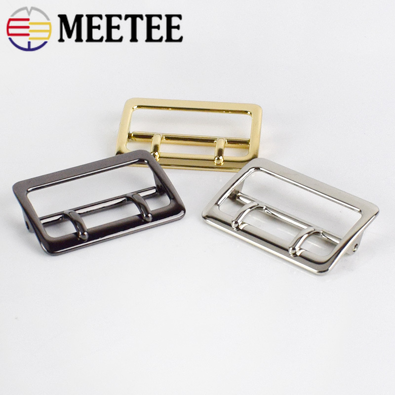 2/4/10pcs 40mm Alloy Double Pin Buckle Adjustable Garment Buckle Bag Hardware Accessories DIY Leather Craft Material BF028