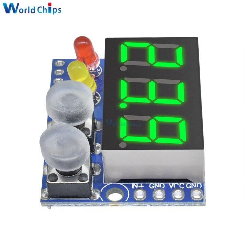 Diymore 2 PCS 0.284 bits DC0-100V 10A Voltm/ètre Amp/èrem/ètre Bleu Rouge LED Amp double Voltm/ètre Jauge