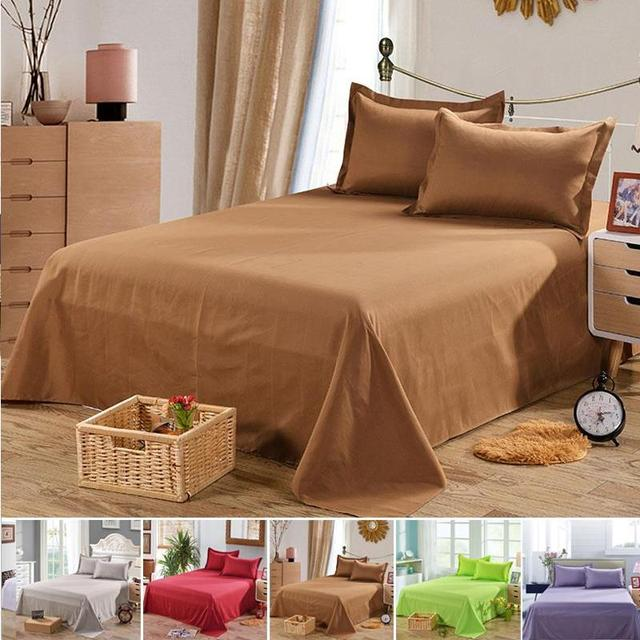 Bed Sheets Bed Linings Household Products Furniture Furniture Furniture Bedsheet Solid Color Washable Cozy Polyester