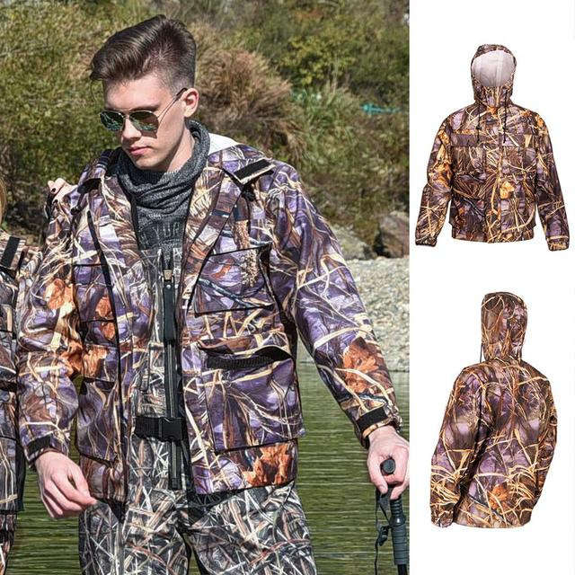 NeyGu esterna Impermeabile e traspirante giacca da pesca, Ad Asciugatura Rapida giacca Trampolieri di pesca per la pesca, caccia e da trekking