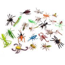 Высокая имитация насекомых модель животных Дети Раннее Образование игрушка Миниатюрный Сад Декор фигурки Набор фигурок