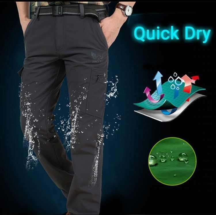Pantalones tácticos para hombre, pantalones informales de verano estilo militar, pantalones Cargo para hombre, pantalones impermeables de secado rápido, pantalones de hombre